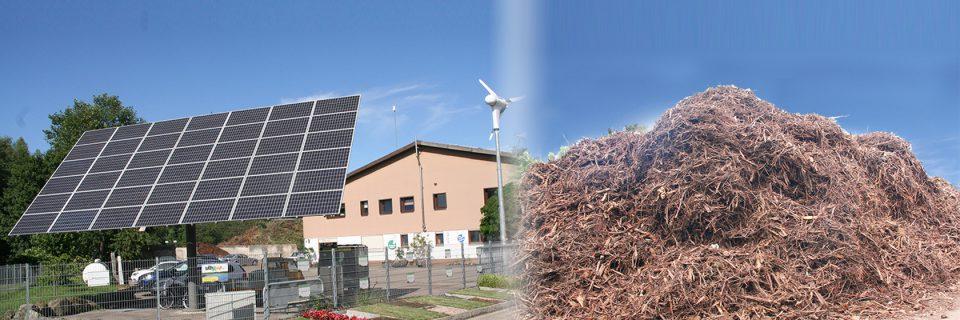 Biomasse, Holz und Sonne als Energielieferanten