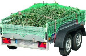 Tandemhänger mit Abdecknetz für Grünabfälle